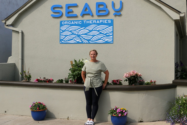 Johanna Regan outside her Seabu Organic Therapies Bundoran